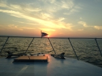 Sunset on Lake Michigan. Gorgeous night of fishing.